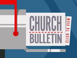 button - church bulletin